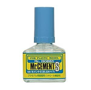 Mr. Cement S Bottle NET.40ml Gundam Hobby (Brush Type)
