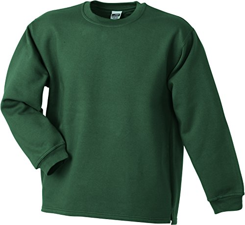 James & Nicholson – Round Sweat Open Hem Felpe Verde scuro