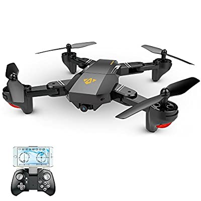 Goolsky VISUO XS809HW Wifi FPV 2.0MP 120° FOV Wide Angle Foldable Selfie Drone Height Hold RC Quadcopter G-Sensor RTF Extra Battery