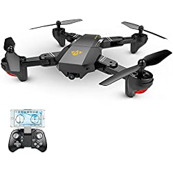 Goolsky VISUO XS809HW WiFi FPV 2.0MP 120 ° FOV Gran Angular Plegable Selfie Drone Altura RC Quadcopter G-Sensor RTF Extra Dos Baterías