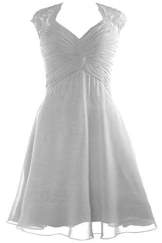 MACloth - Robe - Trapèze - Sans Manche - Femme Weiß