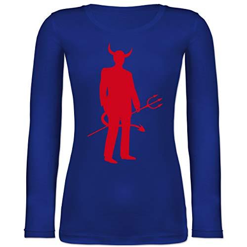 Shirtracer Halloween - Teufel - M - Blau - BCTW071 - Langarmshirt ()