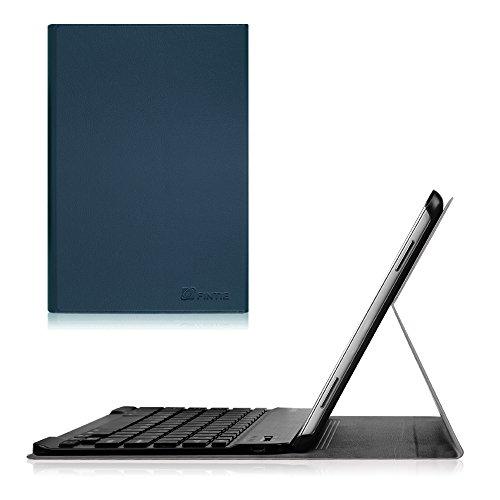 Fintie Blade X1 Samsung Galaxy Tab A 10.1 Bluetooth Tastatur Hülle Keyboard Case - Ultradünn leicht SmartShell Ständer Schutzhülle mit magnetisch abnehmbarer drahtloser deutscher Bluetooth Tastatur für Samsung Galaxy Tab A 10,1 Zoll T580N / T585N Tablet (2016 Version) Marineblau