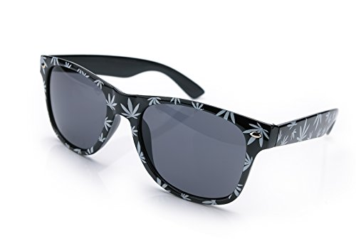 NEW UNISEX Damen Herren Retro Vintage Sonnenbrille Brille 420 UV400 Morefaz(TM) (Black White )