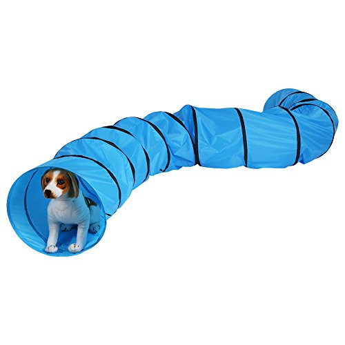 GOTOTOP Mascotas Agilidad Túnel, Entrenamiento Exterior Túnel Equipo de Juego para Perros, Puppies, Gatos, Gatitos, Ferrets, y Conejos