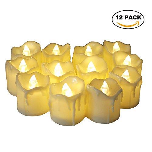 Led Teelichter mit Flackernde,Elektrische Kerze Die Letzten 60 Stunden,Led Kerzen Ideal für Feiern Main Dekorationen (Halloween-dekoration Verkauf)