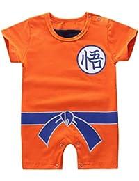ranrann Ropa para Bebé Niños Niñas, Body Pijama de Algodón para Niños Disfraz Goku,