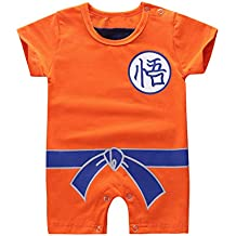 iiniim Mameluco Naranja Unisex Bebé Niño Niña Mangas Cortas Pelele Sun Wukong Mono Algodón Infantil Bodies