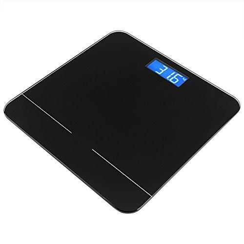 Bluetooth Smart Electric Waage mit Waage und Display LED Digital Body Health Monitor auf Handy App schwarz Elektrische Waage