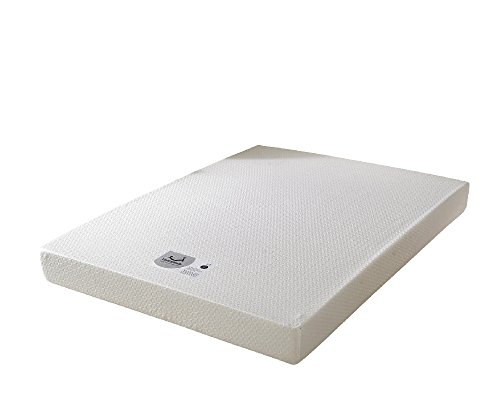 Happy Beds Memory 250 Orthopaedic Memory Foam Firm Mattress with Removable Zip Cover – Super King Size (180 x 200 cm), White