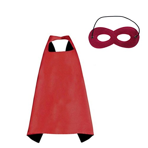 ang und -Maske, Halloween-Kostüm für Kinder & Erwachsene Gr. 70 cm x 70 cm, rot / schwarz (Superman Halloween Kostüme Für Erwachsene)