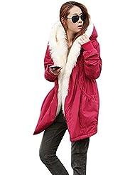 CeRui Mujeres Espesan la Capa Caliente del Invierno Abrigo con Capucha Anorak Chaqueta Larga Abrigo
