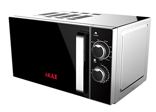 Akai Horno con Microondas AKMW201 Plata, 20L, Grill 700W, 700 W, 20...