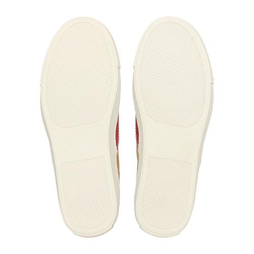 ZWEIGUT® -Hamburg- echt #406 Damen Sneaker vegane Korkschuhe auf federleichter Laufsohle, Schuhgröße:37, Farbe:rot-kork - 6
