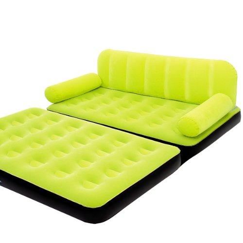 Bestway Luftbett Luftmatratze 3in1 Multifunktionscouch Bett Couch Sessel inkl. elektrischer Pumpe Grün