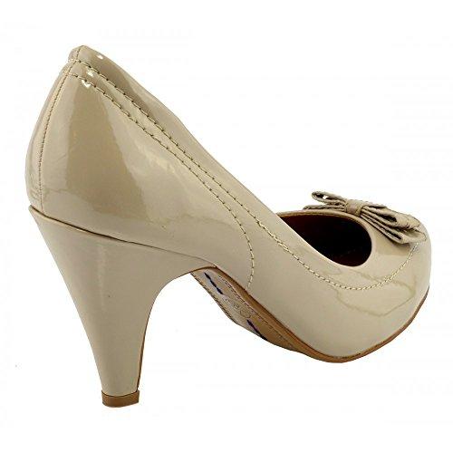 Kick Footwear - Donna tacco basso scarpe di corte,scarpe festa Nudo