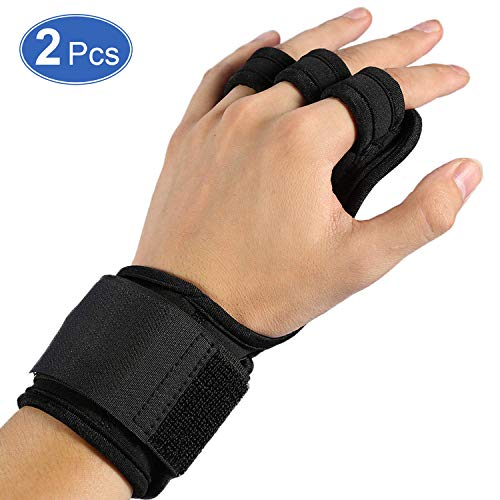 Haofy Crossfit Handschuhe Grip Fitness Handschuhe mit Handgelenkstütze und Voller Handflächenschutz, Sporthandschuhe für Crossfit, Kraftsport, Bodybuilding, 1 Paar Trainingshandschuhe für Herren Damen