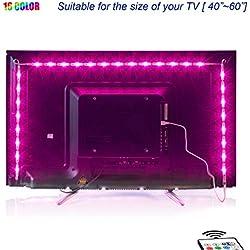 Led TV Hintergrundbeleuchtung,2M USB Led Beleuchtung Hintergrundbeleuchtung Fernseher USB für 40 bis 60 Zoll HDTV,TV-Bildschirm und PC-Monitor,Led Strip.