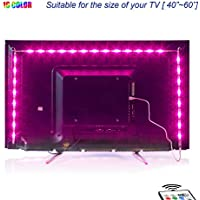 2M LED TV Backlight USB Bias Lighting with 16 Colors and 4 Dynamic Mode for 40 To 60 Inch HDTV,PC Monitor,Led Light Strip.(4pcs x 50cm Led Strips)