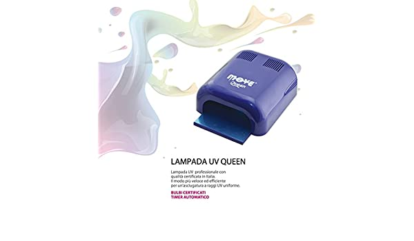 Move queen lampada ricostruzione uv gel nail art 36w: amazon.it