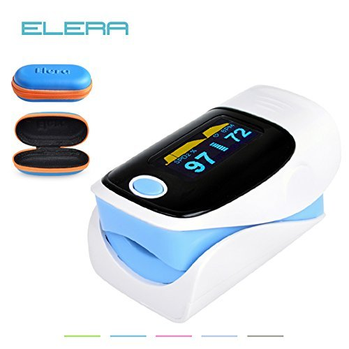 Generic blue with case : Digital finger oximeter, OLED pulse oximeter display pulsioximetro SPO2 PR oximetro de dedo,oximeter a finger with carrying case