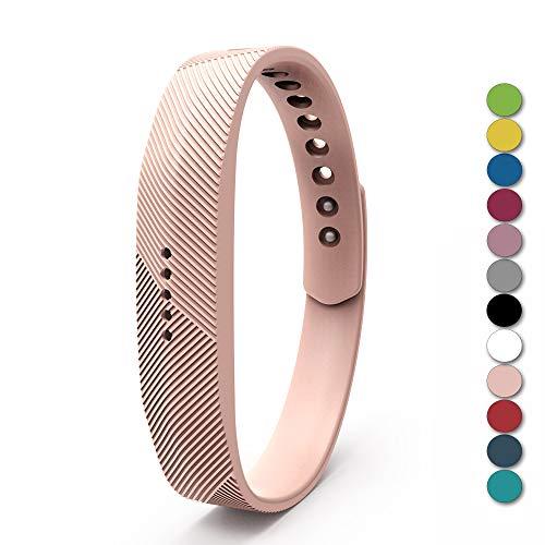"""Zeehar Ersatz-Armband aus weichem Silikon für Fitbit Flex 2 Fitness-Armband, kein Tracker, Khaki, L(for 6.7""""- 8.1"""" Wrist)"""