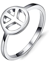 JewelryPalace Cnd Symbol 925 Sterling Silver Ring