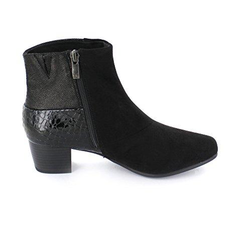 Mit Damen Black Stiefelette In Caprice Stretch Schwarz E6Hnwq