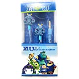 CARTOON EARPHONES FROM THE HOUSE OF LORDS:- MU (MONSTERS UNIVERSITY) VERSION EARPHONES WITH MIC. EARPHONES WITH MIC CONTROLS FOR LAPTOPS, MOBILES. IPADS, TABLETS WITH FREE EARPLUG COVER (MONSTERS UNIVERSITY EDITION FOR KIDS (BOYS, GIRLS)