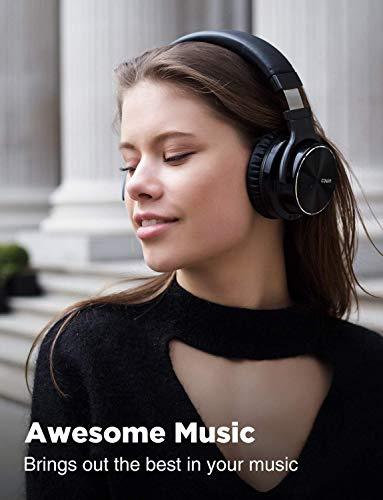 cowin E7 PRO [2018 aktualisiert] Active Noise Cancelling Bluetooth Kopfhörer mit Mikrofon Hi-Fi Deep Bass Wireless Kopfhörer über Ohr 30H Spielzeit für Reisen Arbeit TV Computer Telefon(Schwarz) - 7