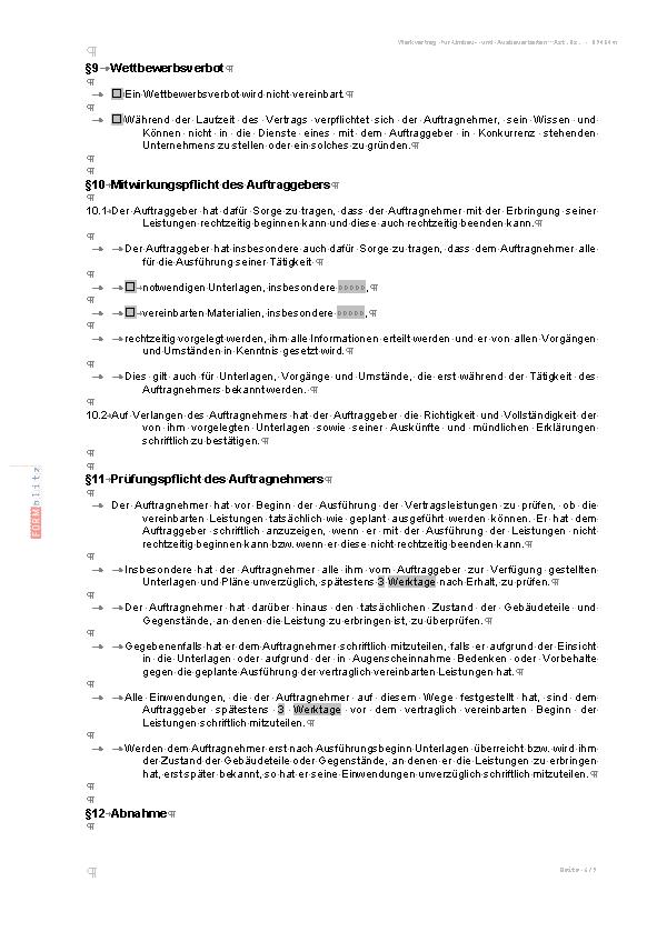 Werkvertrag zu Umbau- und Ausbauarbeiten (PDF) [Download]