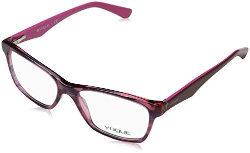 7bc032ec188e1e VOGUE Monture lunettes de vue VO 2787 2061 Noir Rouge cerise à rayures 53MM