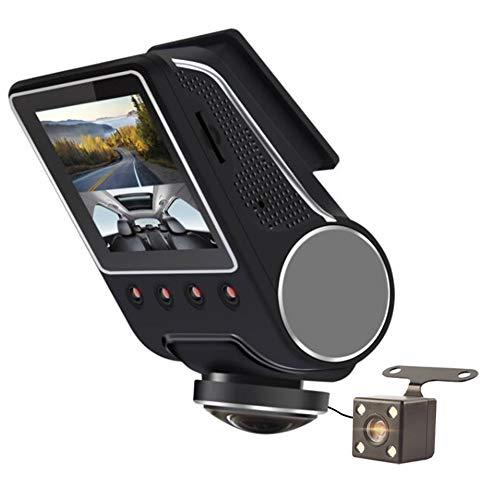 Dashcam Auto,1080P 360° Wifi Nachtsicht Vorne Hinten Dual Kamera Autokamera Mit Audio&Bewegungsmelder&G-Sensor&Loop-Aufnahme&Parkmonitor Für Parküberwachung,Überwachungskamera,No Speicher Karte