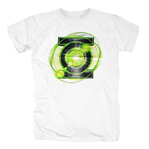 TSP Green Lantern - Logo Glow T-Shirt Herren XL Weiß
