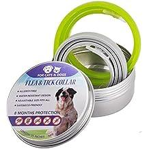 Globalqi Gato y Perro Collar La pulga Repelente Desparasitación Natural Eliminación de aceites Esenciales Collar de