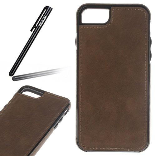 Pelle Custodia Cover per iPhone 7 Case ,Ukayfe Ultra Slim Casa Custodia (back cover) rivestita (Rivestita Di Gomma Di Caso)