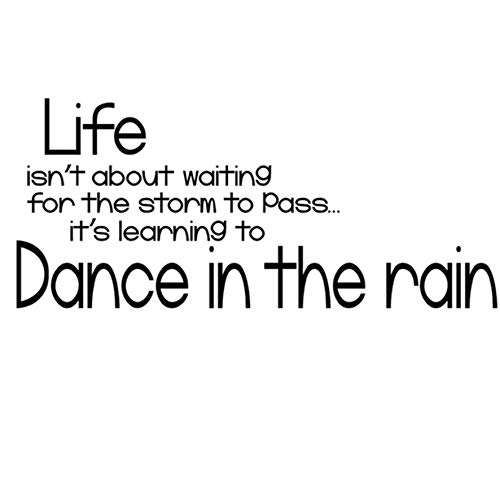 Wandaufkleber Tanz im regen zitate text wandaufkleber poster neues design wohnkultur diy schwarz wandtattoos druck für kinderzimmer schlafzimmer 25x59 cm