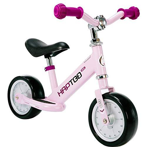 Baby Walker Walker Esercizio per Bambini All'aperto Equilibrio Auto Senza Pedali Sport per Biciclette Senza Pedale Scooter 7 Pollici Pneumatico,Pink