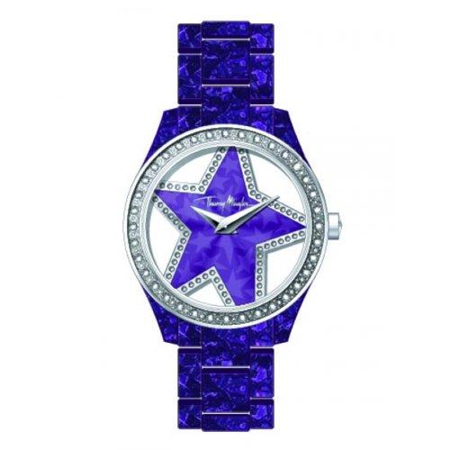 Thierry Mugler - 4716403 - Montre Femme - Quartz Analogique - Cadran Violet - Bracelet Acétate Violet