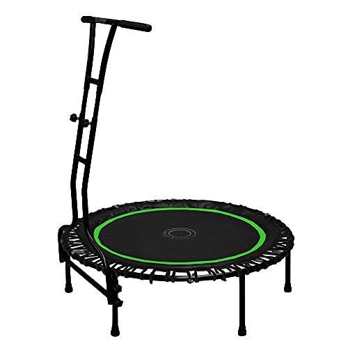 Indoor Outdoor Mini Fitness Trampolin 110 cm Ø mit 6 Standbeinen Haltegriff höhenverstellbar stabile Ausführung bis 120 kg belastbar grün