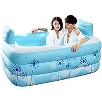 Bañeras con Jacuzzi Inflable Adultos, hogar con Estilo cómoda Plegable Inflable para Dos Personas Passion Inflable Azul para aliviar la Fatiga