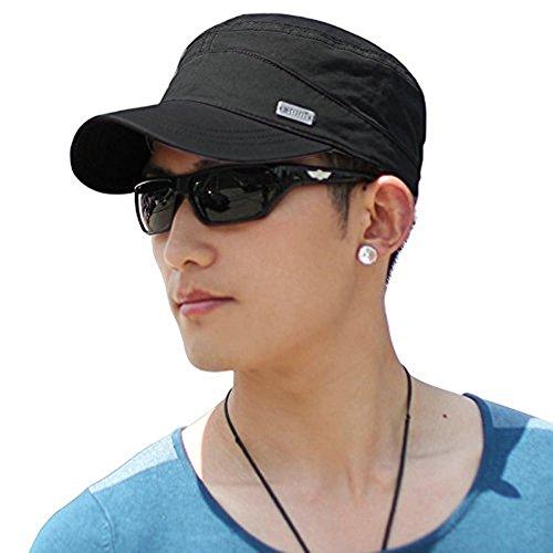 Hut-männer-baseball-cap (SIGGI Schwarz Sonnen Baseball Mütze Für Wandern Militärarmee Hut für Männer)