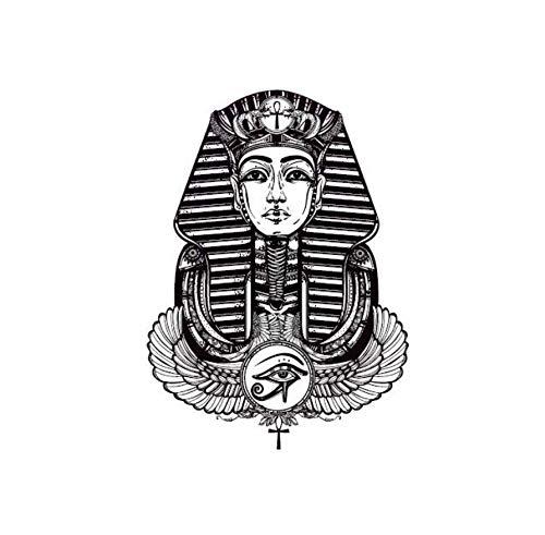 ruofengpuzi Wasserdichter Temporärer Tätowierungs-Aufkleber-Ägyptischer Pharao-Klassisches Design-Körper-Kunst-Make-Upwerkzeug