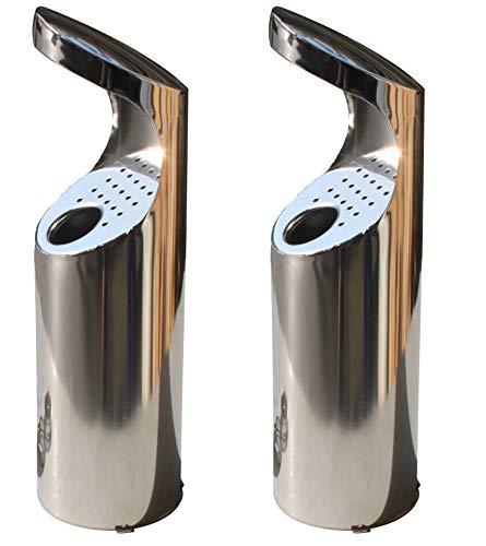 Kit 2 ceniceros acero inoxidable fijar tubo redondo