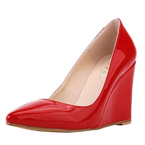 EKS , Escarpins pour femme Rouge