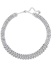 Swarovski Damen-Collier Baron All-Around Halskette Versilbert Kristall transparent 38.0 cm - 5117678