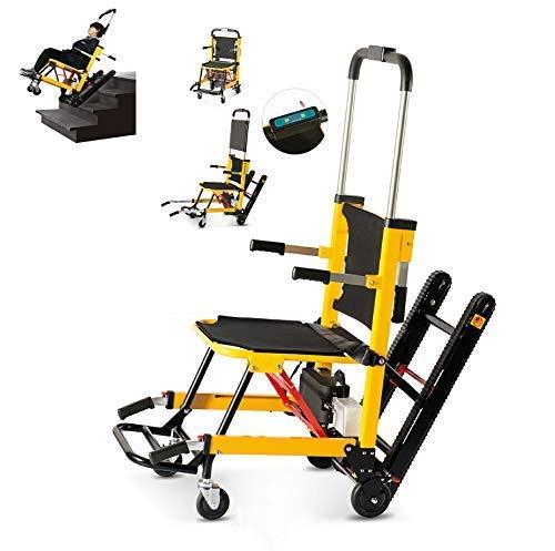 SuRose Medizinischer motorisierter Treppenstuhl, Nottransport-Treppen-anhebender Evakuierungs-Stuhl - Belastbarkeit: 440 Pfund