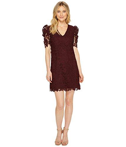 Donna Morgan Damen Women's V-Neck Lace Shift Dress Cocktailkleid, Wine Burgundy, 30 V-neck Shift