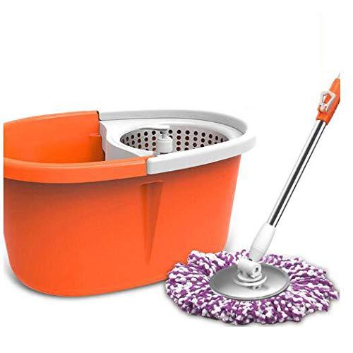 WZH Rotationseimer,Bodenwischer,Disc Mop Wischer fürRotierender Moppeimer Handwaschmopp Doppelantrieb rotierender Moppeimer