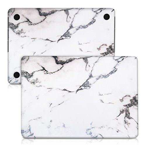 """Preisvergleich Produktbild kwmobile Aufkleber für Apple MacBook Pro Retina 13"""" (Ende 2012 - Mitte 2016) mit Marmor Design - Folie Sticker Skin für Vorderseite und Unterseite"""